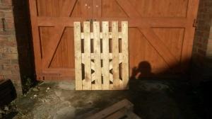 Gate braced