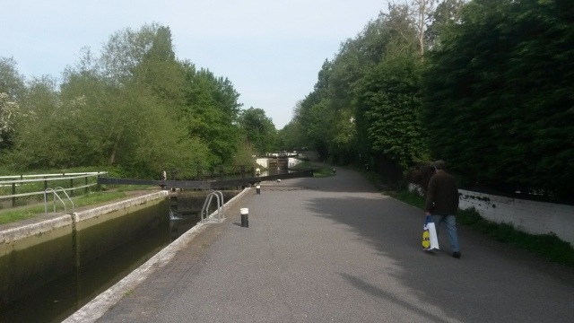 The first lock with the 2nd and just in view the third.